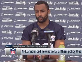 Watch: Doug Baldwin reacts to new national anthem rule changes