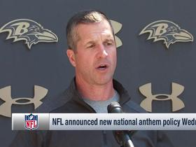 Watch: John Harbaugh reacts to new national anthem rule changes