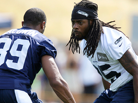 Watch: Baldwin: Not having Sherman out here at practice has been 'emotional'