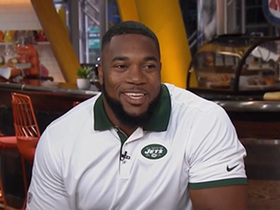 Watch: Don't mess with Shep! Jets DT Shepherd explains his old job as a bouncer