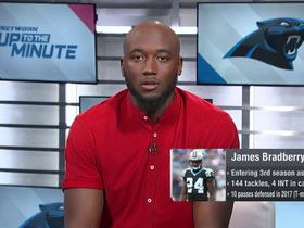 Watch: James Bradberry on DJ Moore: 'He's impressed me a lot' through OTAs