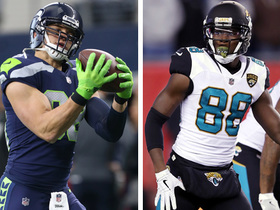 How will Jimmy Graham and Marcedes Lewis complement each other in Packers' offense?