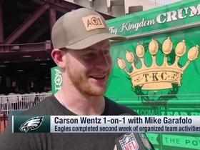 Wentz: 'I feel like I can' participate fully in practice; 'it's killing me' not to