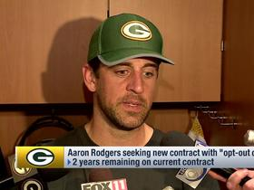 Aaron Rodgers: 'I'd like to' be a Packer 'for life'