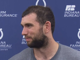 Andrew Luck discusses what it was like to finally throw footballs again