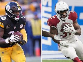 Which RB is worth $10 million per year: Le'Veon Bell or David Johnson?
