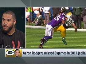 Watch: Anthony Barr reflects on Aaron Rodgers hit in 2017: 'He had something to say' afterward