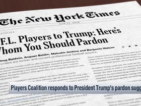 Watch: Players Coalition responds to President Trump's pardon suggestion