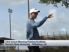 Watch: Watch the Manning brothers run drills at the Manning Passing Academy
