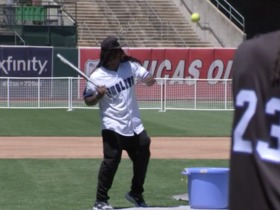 Watch: Marshawn Lynch's best moments from charity softball game