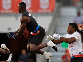 Watch: AFFL Ultimate Final: Godspeed's Lavelle Hawkins goes UP for leaping INT