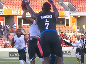 Watch: AFFL Ultimate Final: Godspeed's Lavelle Hawkins completely REJECTS lateral attempt