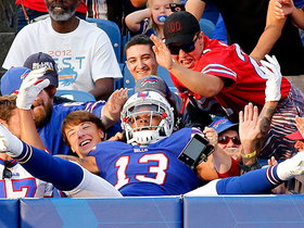 Watch: Benjamin takes seat in stands after long TD catch