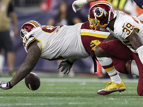 Watch: Etling fumble recovered by Redskins Tim Settle