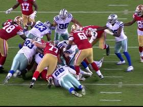 Watch: Charles Tapper recovers fumble by Raheem Mostert