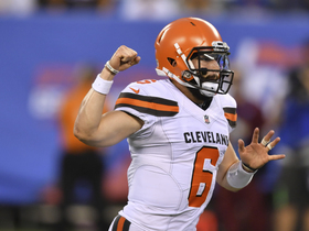 Watch: 'Hard Knocks': Baker Mayfield gets mic'd up for preseason debut