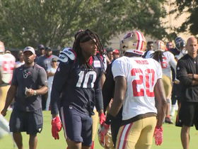 Watch: DeAndre Hopkins scraps with Jimmie Ward during joint practice