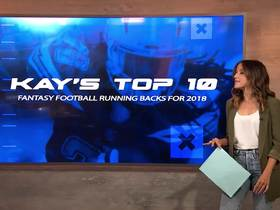 Watch: Kay Adams' top 10 fantasy running backs for 2018
