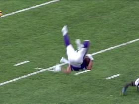 Watch: Chad Beebe gets FLIPPED into the air after catch