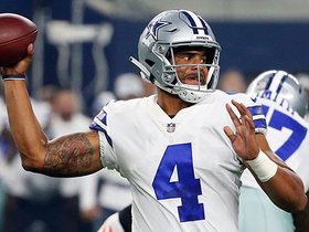 Watch: Dak rolls out, darts pass to Hurns for first down