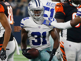 Watch: Tyler Boyd fumbles, Byron Jones recovers for defense