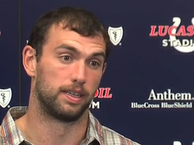 Watch: Luck calls Colts' offensive performance vs. Ravens 'a little sloppy'