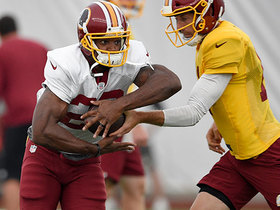 Watch: Adrian Peterson's first moments with the Redskins