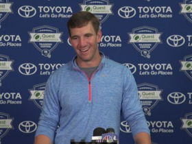 Watch: Eli on how he relates to OBJ, Saquon: 'I do a lot of dancing'