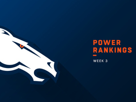 Watch: Broncos remain in same spot for Week 3 | Power Rankings