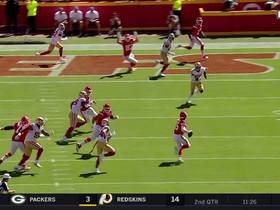 Watch: Can't-Miss Play: Mahomes scrambles for DAYS before firing TD pass