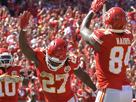 Watch: Demetrius Harris sinks a jump shot after catching TD from Mahomes