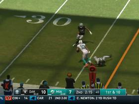 Watch: Tannehill darts a deep pass to Kenny Stills for a 21-yard gain