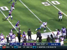Watch: Josh Allen connects with Andre Holmes for a big 22-yard catch and run