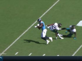 Watch: Corey Davis catches for a 22-yard gain vs. Jacksonville Jaguars
