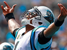 Watch: Cam takes zone read for powerful 5-yard TD run