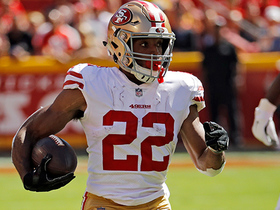 Watch: Matt Breida runs past an arm tackle for 21 yards
