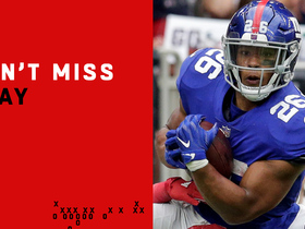 Watch: Can't-Miss Play: Saquon gets UP to make unreal catch over defender