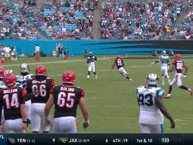 Watch: Donte Jackson catches second INT from Dalton