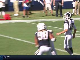 Watch: Jared Goff zips TD pass to Woods for second time