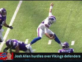 Watch: Fans react to Josh Allen's hurdle of Anthony Barr | The Checkdown