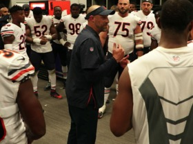 Watch: Matt Nagy's locker room speech