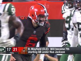 Watch: Baker Mayfield reacts to being named Browns' starting QB