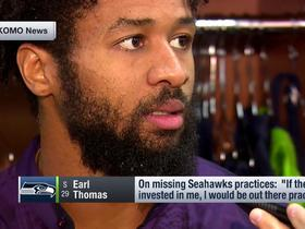 Watch: Earl Thomas explains why he's 'investing' in himself by missing practice
