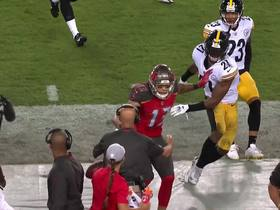 Watch: Mike Evans exchanges words with Steelers sideline after catch