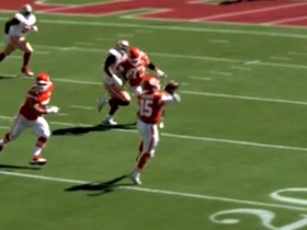 Watch: Patrick Mahomes runs all over before finding his man in the end zone   True View