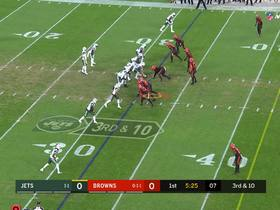 Watch: Myles Garrett dominates Jets O-line for sack | True View
