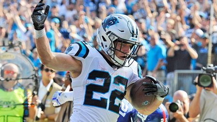 Christian McCaffrey takes in screen pass for first TD of 2018