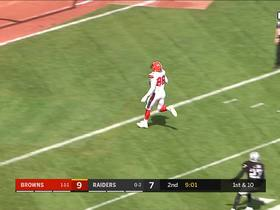 Watch: Fells and Njoku TD celebration