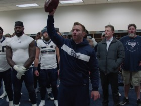 Watch: McVay hands out game balls to Todd Gurley, Wade Phillips after Week 6 win