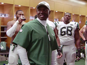 Watch: Kacy Rodgers breaks huddle for Jets after win over Colts